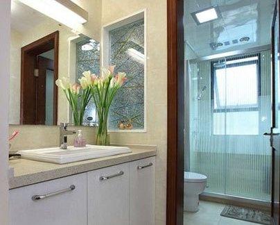 现代风格两室两厅新房装修卫生间效果图