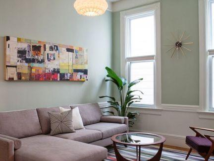 简约80平米两室一厅装修效果图-2018两房一厅简约装修图 房天下装修