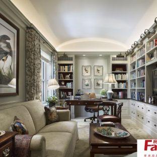 法式风格豪华别墅书房设计效果图图片