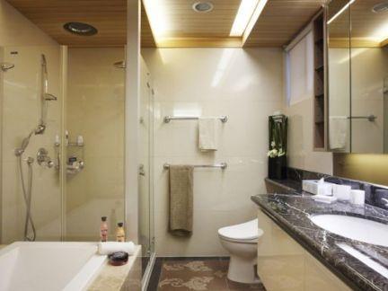 家装卫生间桑拿板吊顶效果图图片