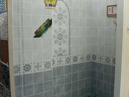 简约家庭卫生间瓷砖铺贴效果图