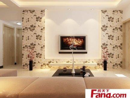 客厅电视机背景墙墙纸