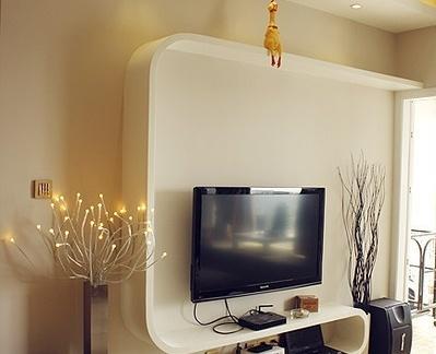简单个性电视背景墙的设计