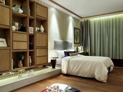 新中式样板房卧室装修设计图