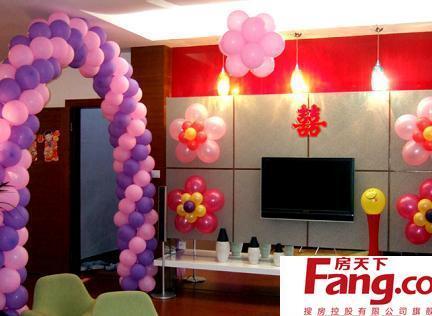婚房气球布置图片大全图片