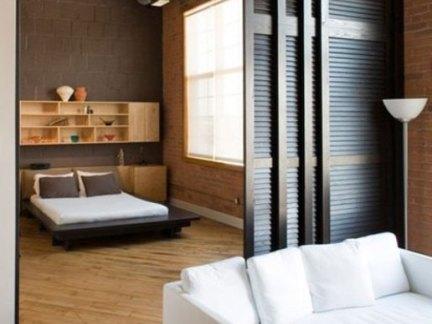 卧室客厅可移动屏风隔断效果图图片