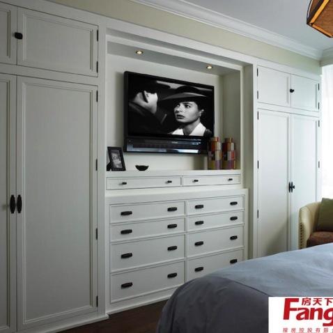简约卧室组合柜图片-搜房网装修
