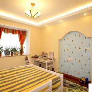 简装东南亚风格儿童房装修效果图
