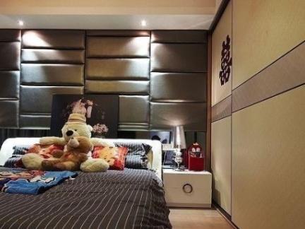 卧室床头软包背景墙效果图欣赏
