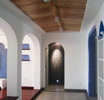 2018客厅桑拿板吊顶效果图 房天下装修效果图
