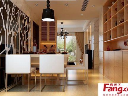 家庭餐厅过道装饰设计效果图-2017家庭过道装修效果图 房天下装修效图片