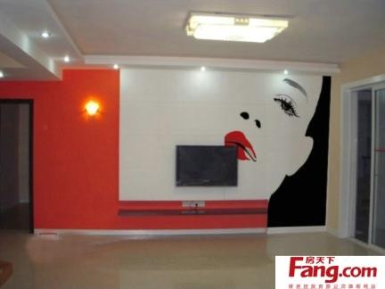 室内家装手绘电视墙设计图