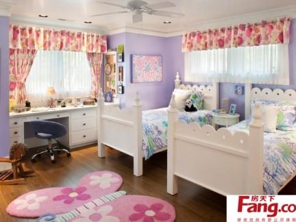 欧式家居双胞胎儿童房装修效果图