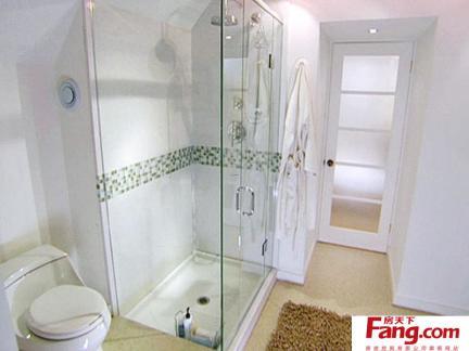 时尚卫生间淋浴房设计效果图