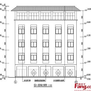 手绘房屋建筑立面图