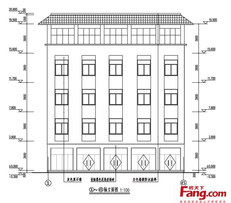 手绘房屋建筑立面图-搜房网装修效果图