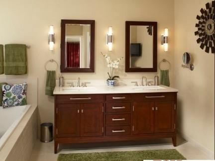 卫生间洗脸盆柜组合台面装修效果图