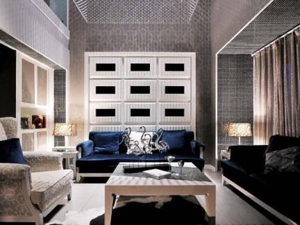 现代装修风格自建别墅客厅设计图片