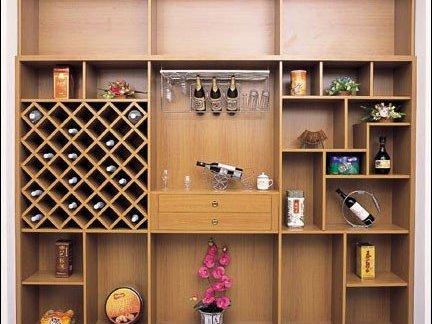 中式风格多功能创意酒柜效果图