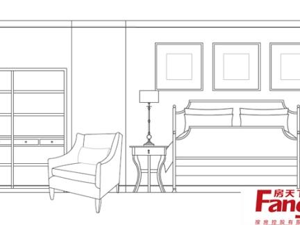 室内设计卧室立面图