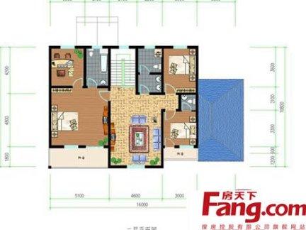 两室一厅农村一层别墅户型图
