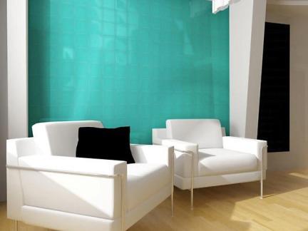 简约艺术玻璃背景墙效果图