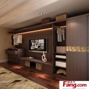 卧室别墅电视柜衣柜一体柜效果图天猫设计装修图片