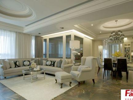 时尚欧式100平米两室一厅装修效果图图片