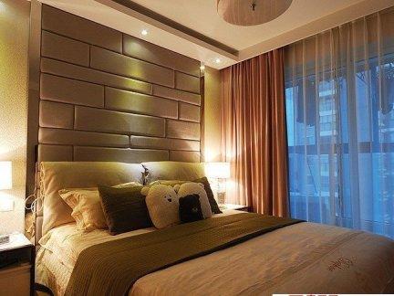 2017床头床头软包背景墙效果图 房天下装修效果图