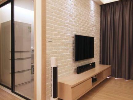 白色文化砖电视背景墙装修效果图大全