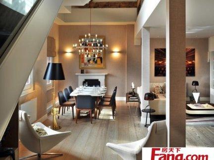 现代风格挑空客厅装饰设计效果图