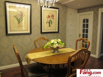 美式家庭餐厅装饰画效果图图片