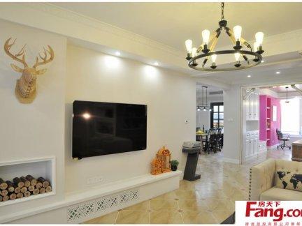 106平米简单美式两室两厅户型装修效果图
