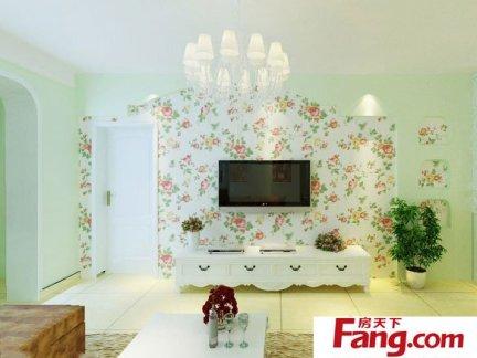 田园风格电视机背景墙墙纸