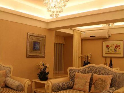 简欧风格两室一厅装修效果图图片