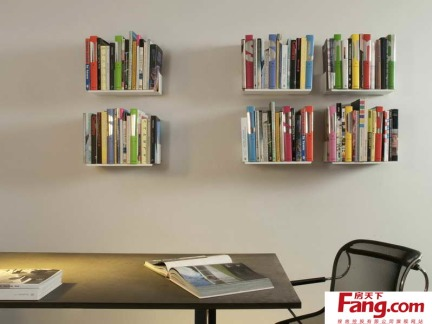 墙上小书架效果图-2017墙上书架效果图 房天下装修效果图