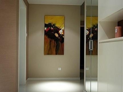 室内过道墙面装饰油画图片-2017过道墙面装修效果图 房天下装修效果图片