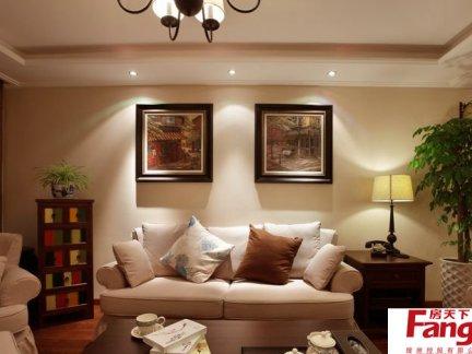 小客厅沙发背景墙挂画效果图
