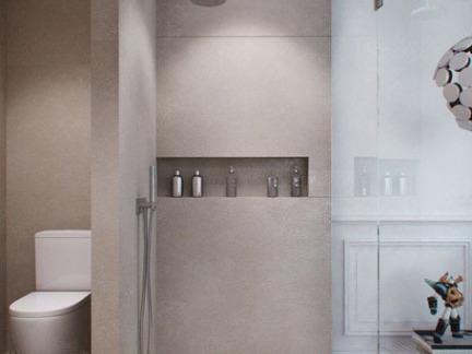 简约风格单身公寓卫生间隔墙装修效果图