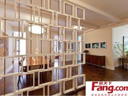 创意客厅与餐厅屏风隔断效果图