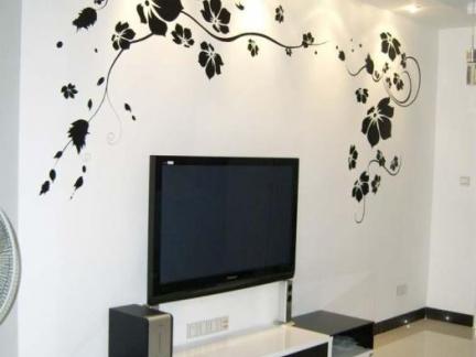 手绘电视背景墙设计