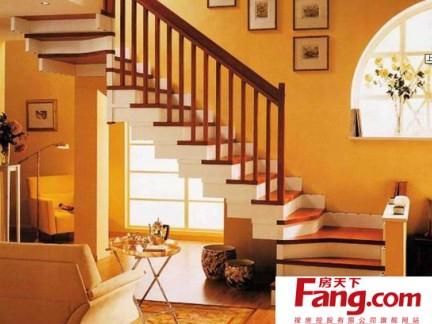 地中海风格跃层楼梯装修效果图图片