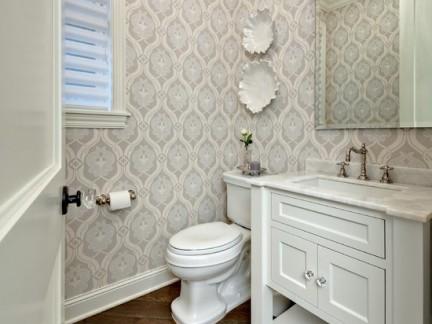 简欧小卫生间液体壁纸图片大全