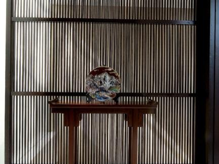 中式自建别墅玄关摆件效果图