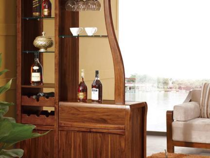 2017中式酒柜设计图片欣赏 房天下装修效果图