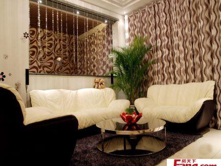 现代新古典风格三室两厅室内装修效果图-2017三室两厅室内装修图 房