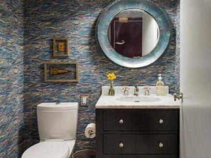 小型卫生间洗脸盆柜组合效果图