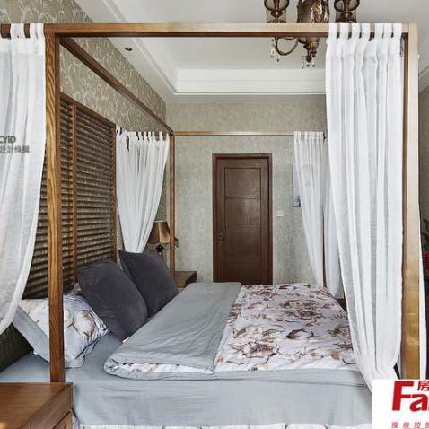 東南亞風格臥室床幔圖片圖片