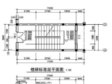 2017标准楼梯平面图 房天下装修效果图
