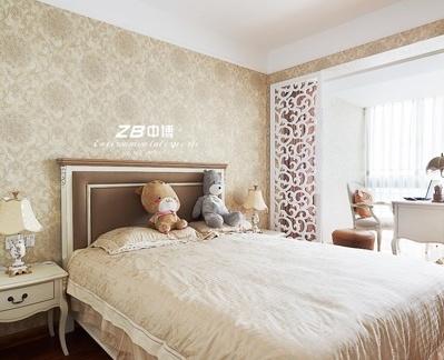 简欧风格卧室背景墙设计效果图欣赏图片